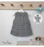 Dafne Dokuma Fırfırlı Elbise FMY8719