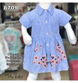 Çiçek Nakışlı Dokuma Elbise FMY8709