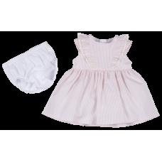 Pink Cat Çizgili Dokuma Elbise FMY9705
